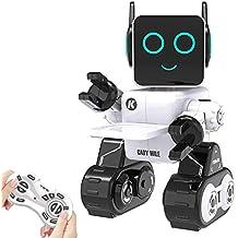 Ricaricabile Robot per bambini, Remote Controlled Giocattolo Intelligent Robot Tocca Interattivo, Parla, Gioca musica, Camminare, Danza, con Built-in Salvadanaio, Kit RC Robot per Ragazzi, Ragazze (Bianca)