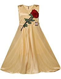 Benkils Cute Fashion Baby Girl's Lycra Frock Dress for (Skin, 4-5 Years)
