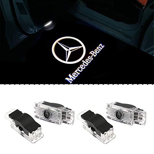 LIKECAR Car portiera Luce LED Proiettori Sottoporta Logo Luce LED del Portello di Automobile di Door Courtesy Illuminazione (4 W203-2)