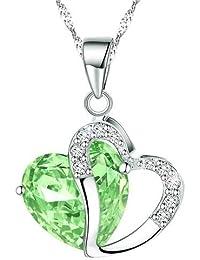 Boolavard Fashion cristaux Collier avec pendentif en forme de cœur