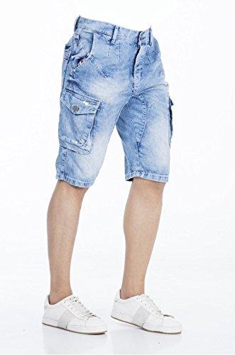 Cipo Short Jeans CK 158 , blue, W30
