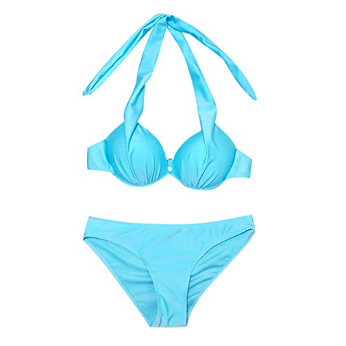 CICIYONER Damen Badeanzug Badeanzüge Frauen Beachwear Patchwork 2 Stück Bandage Bikini S-XL