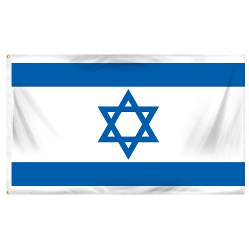 Israel Nationalen Land Flag - 3 Fuß von 5 Fuß Polyester (New) (Flag-football Israel)
