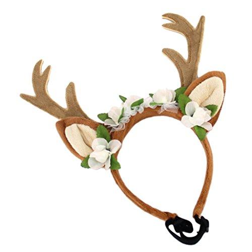 Gazechimp 1 x Rentier Horn Formen Haar Schmuck Zubehör für kleine mittelgroße Haustier - Multi - (Kostüm 1 Schmuck)