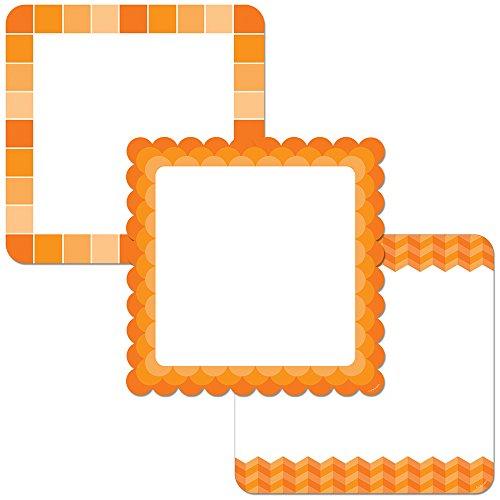 orange Diagramm Karten 25,4cm Designer Aussparungen (0654) (Foto Cutout-board)