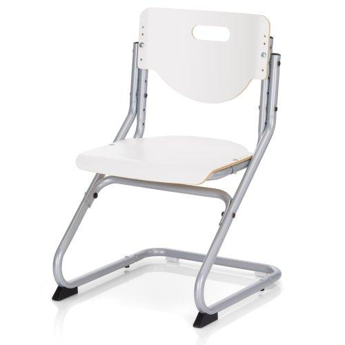 Kettler Schreibtischstuhl Kinder Chair Plus- Farbe: silber und weiß – hochwertiger Kinderschreibtischstuhl MADE IN GERMANY – Schreibtischstuhl ergonomisch & höhenverstellbar - Artikelnummer: 06725-600