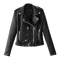 Women Lapel Motor Jacket Coat ❀ Ladies Fashion Zipper Pocket Long Sleeve Short Jacket Coat Sport Coat Sweatshirt