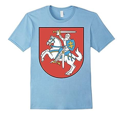 Men's Lithuania Coat Of Arms T Shirt National Lithuanian Emblem Medium Baby Blue