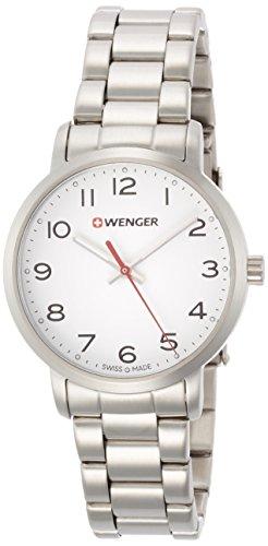 WENGER Reloj Analogico para Unisex de Cuarzo con Correa en Acero Inoxidable 01.1621.104