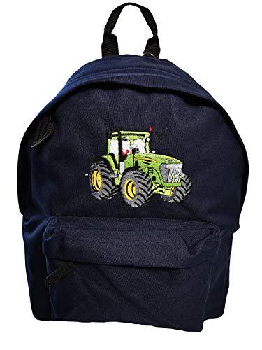 Junior Rucksack Traktor Stickerei Schulkinder Rucksäcke (dunkelblau)