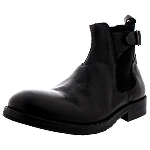 Herren H By Hudson Parson Leder Chelsea-Stiefel Formal Arbeit Schuhe Schwarz