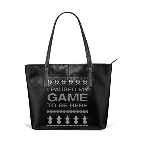 Mode Handtaschen Einkaufstasche Top Griff Umhängetaschen Women's Hand Bag Waterproof Crossbody Bags Ladies Single Shoulder Cowhide Evening Purses Party Bags Printed with I Paused My Game To Be Here