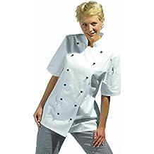 Leiber - Chaqueta de cocinero para mujeres (media manga), color blanco Leiber - Chaqueta de cocinero para mujeres (media manga), color blanco blanco Talla:38