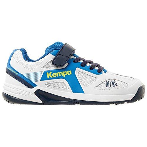 Kempa Unisex-Kinder Wing JUNIOR Handballschuhe, Weiß Blanc Ciel/Bleu Marine, 29 EU