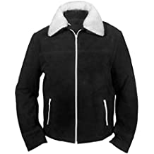 F&H Men's The Walking Dead Rick Grimes Genuine Leather Suede Jacket