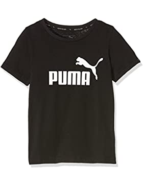 Puma Camiseta de niño, Infantil, T-Shirt ESS No.1 tee, Cotton Black, 140