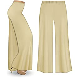 M.G.R.J Indian Ethnic Rayon Designer Plain Casual Wear Palazzo Pant For Women's - Cream (Free Size)