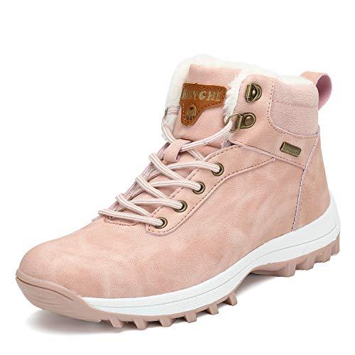 Mishansha Mujer Botas de Nieve Mujer Botines Zapatos Senderismo Impermeables Deportes Trekking Zapatos...