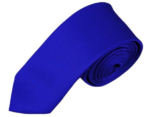 NYFASHION101 Cravate pour enfant de 121,9 cm à couleur unie, Bleu royal