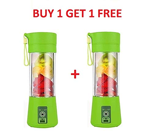 Antil's Portable USB Juicer Blender with stainles Steel Blade 380 ml Bottle with USB Charging Cable