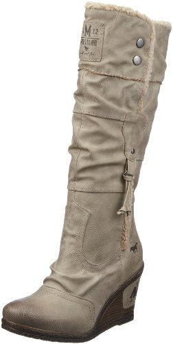 Mustang 1083-608-318, Bottes femme Beige (318 Taupe)