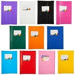 Copertine per quaderni DIN A5, 11 pezzi in 11 colori diversi, motivo intrecciato