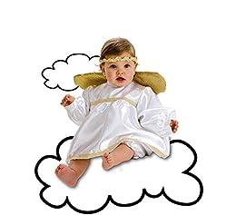 Disfraz de Angelito para bebé de hasta 12 meses. Incluye vestido, pololos y alas. Para ver la relación entre tallas en nuestra tabla de medidas hay que tener en cuenta que este disfraz corresponde a la colección diamante. Este disfraz es idea...