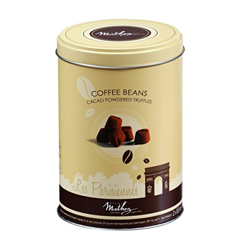 Price comparison product image Mathez Cocoa Truffles Round Tins – Parisiennes Coffee 500g