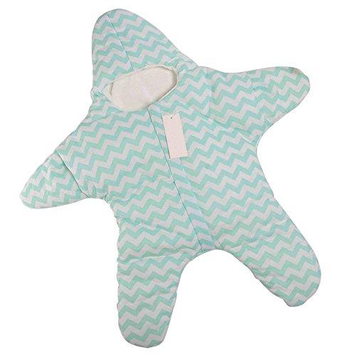 Detective Dizzy Niedliche Seestern Baby Schlafsack für 0-1 Jahr (Grün)