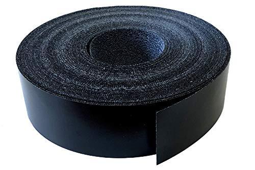 Kantenumleimer Melamin 45mm x 5m mit Schmelzkleber in schwarz glatt matt Dekor