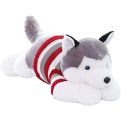 DIS Pretty Fluffy Husky Cane di peluche giocattoli per bambini e adulti bambole di peluche, Green, 50 cm