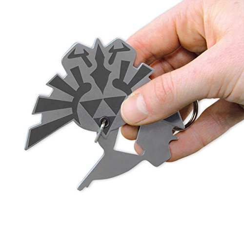 The Legend of Zelda 3 in 1 Multi-Tool Hyrule Schlüsselanhänger aus Metall