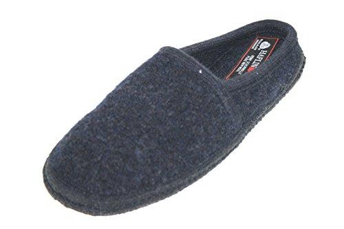 Haflinger Walktoffel Bunte Vielfalt 617001 20 Unisex Erwachsene Hausschuhe Pantoffeln Blau (blau 20)