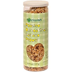 Nutriwish Roasted Quinoa Snack - Salt and Pepper 125g (Healthy On-The-Go Snack)