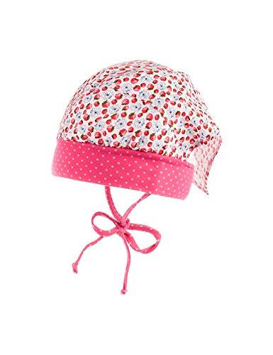 maximo Baby-Mädchen Mütze Kopftuchmütze, Mehrfarbig (Blassrosa-Rot-Erdbeere 18),...