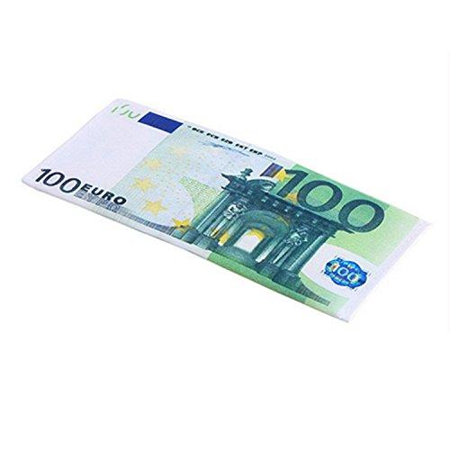 Queenbox Mens Frauen 100-Dollar-Schein Brieftasche 100 Euro 500 Euro Rechnung Geld-Muster-Unisexgeldbörse Geschenkgeld-Organisator -100 Euro Bill (Euro-schein-muster)