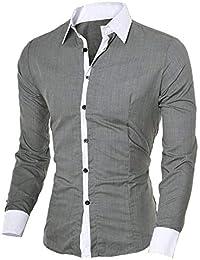 Trachten Herren Hemd Slim Fit Trachtenhemd Langarmhemd Freizeithemd Baumwolle - Für Oktoberfest, Business, Freizeit Long-Sleeved Shirt Top Bluse