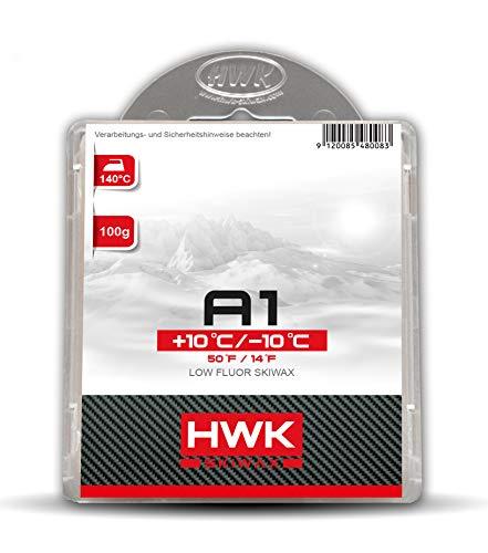 HWK Skiwachs A1 Allround 100g | Wachs für Alpinski, Snowboards und Langlaufski | Erhöht die Gleiteigenschaften