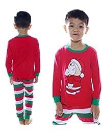 HuntGold 1 Sets Nouveau vêtement de nuit veste de pyjama d'enfants pour Noël(Taille: 7 ans)