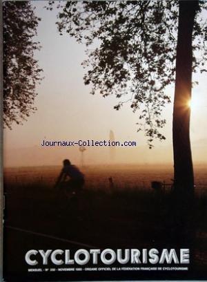 CYCLOTOURISME [No 330] du 01/11/1985 - organe officiel de la federation francaise de cyclotourisme