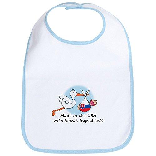 CafePress Storch Baby Slowakei USA Lätzchen–Standard Petal Pink [Apparel] GI..., Blau (Gi-lätzchen)