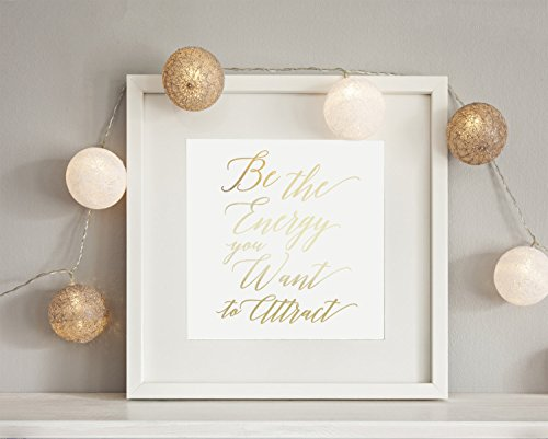 real-gold-foil-print-be-the-energy-you-want-to-attract-typography-poster-inspiration-print-gold-foil