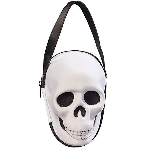 Orlob Fasching Damen Handtasche Totenkopf schwarz-weiß Kostüm-Zubehör Halloween Karneval schauriges Accessoires (Halloween Schaurige Kostüm)