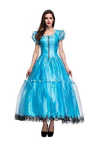 VENI MASEE Frauen-Weinlese-europäisches Märchen-Prinzessin-Kleid-Halloween-Abendkleid-Kostüm
