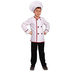 Carnival Toys-Disfraz Chef para bebé para niños, multicolor, talla única, 68140