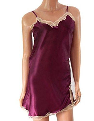 Preisvergleich Produktbild Aierwish Damen Sexy Pyjamas Unterwäsche Geschmack Spitze Strickjacke Nachtwäsche Dessous Stücke Kit (S, Rote)
