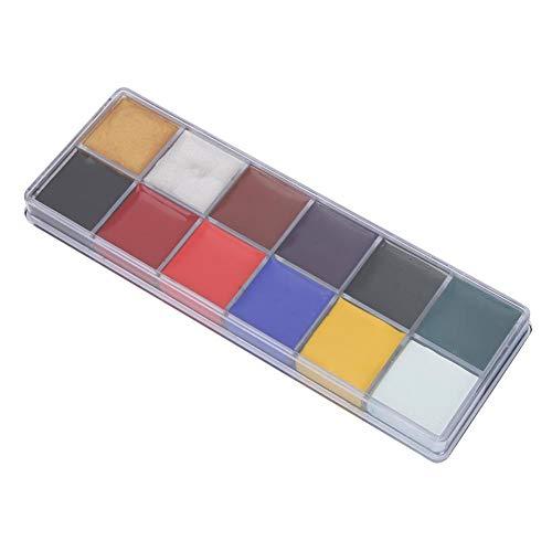 12 Farben ungiftig Ölfarbe Gesicht Körper Halloween Tag Malerei MakeupPainting Zeichnung Zubehör Bunte Farbe Set