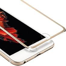 "iPhone 6s Plus Protector de Pantalla, VIUME 3D Pantalla Completa iPhone 6 Plus Cristal Vidrio Templado Pantalla protectora 5.5""(Metal Oro)"