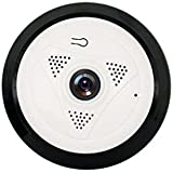 WeituFurn cámara de seguridad Inicio 960P3D stereo monitoring 360 eyes 1.3 million pixels Supporto per IOS e Android (Bianco)