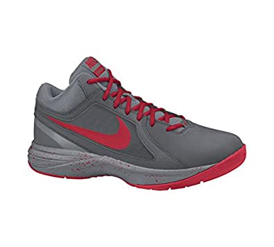 New Nike Men's The Overplay VIII Basketball Shoe Grey/University Red 14